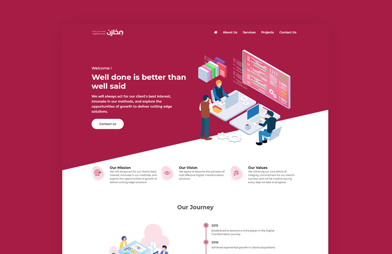 Corporate website for Software Agency