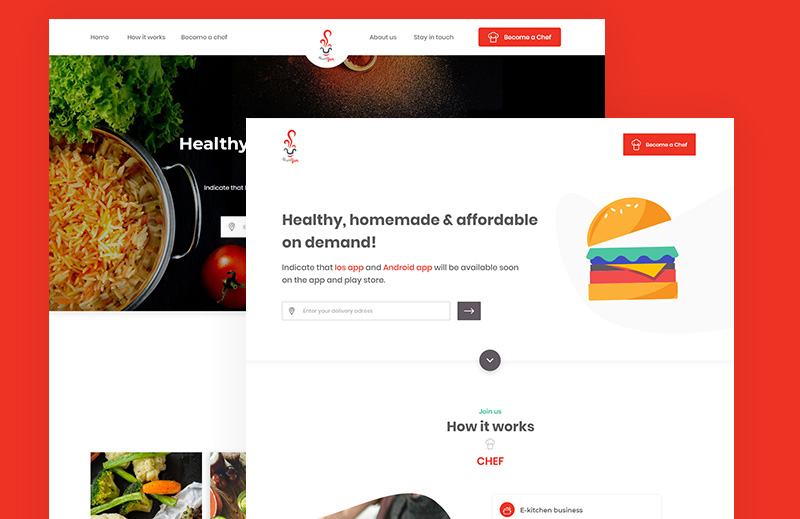 Online food ordering and delivery platform with mobile apps