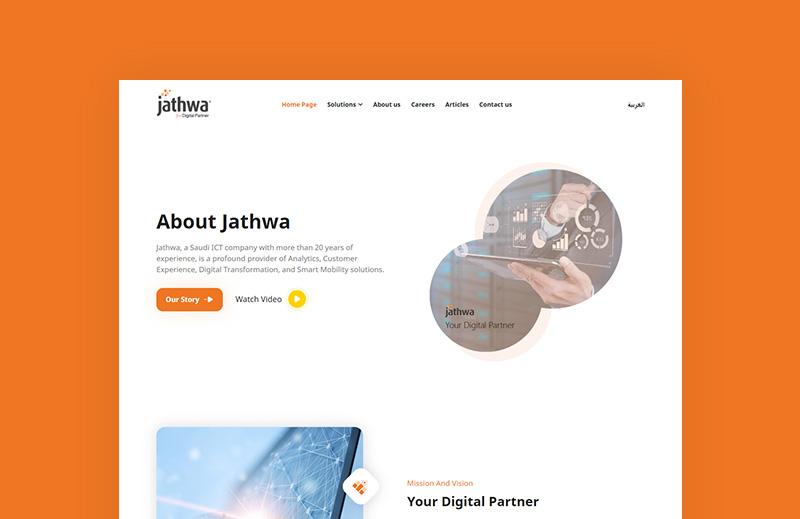 موقع تعريفي لشركة خدمات تقنية